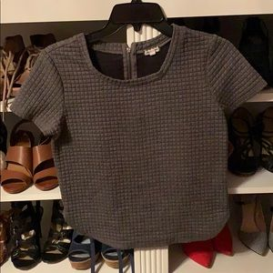 Gray top with texture